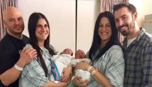 Twins Gave Birth Two Babies
