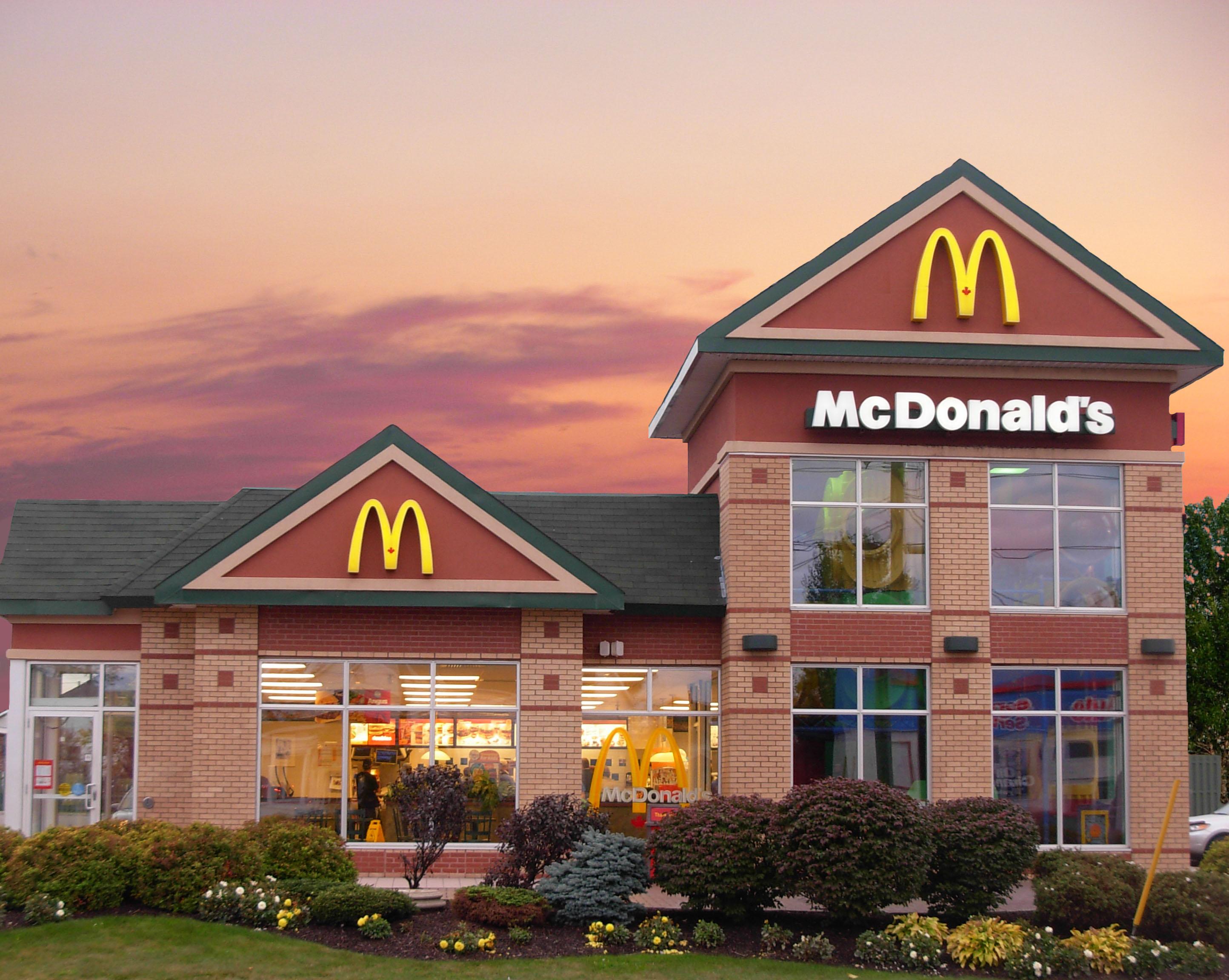 mcdonalds calories