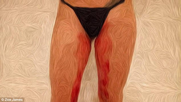 "OMG! She Created This Piece Of Art Entirely Out Of Menstrual Blood. ""An Expensive Habit""  To Show How Many Struggle To Afford Tampons"