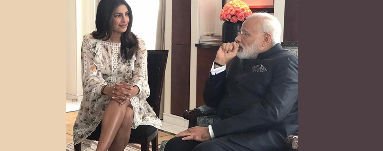 This Was How Priyanka Chopra Reacted To Sexist Remark And After Being Trolled For Sitting Crosslegged In Front Of PM Modi