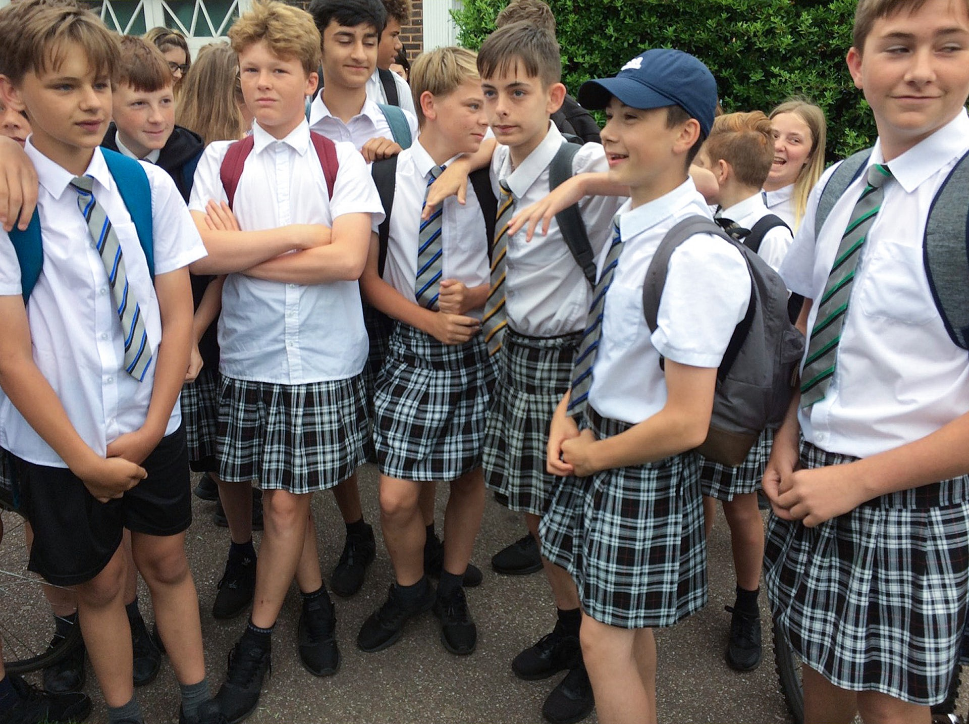 Teenage Boys Come To School Wearing Skirts