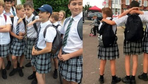 What Led Teenage Boys Come To School Wearing Skirts