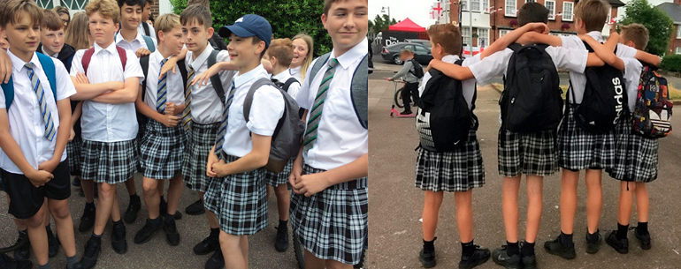 What Led Teenage Boys Come To School Wearing Skirts??