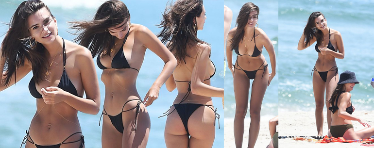 Emily Ratajkowski Showcases Her Stunning Strips Down To Skimpy String Bikini At The Beach