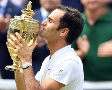 Federer clinches EIGHTH men's Wimbledon title