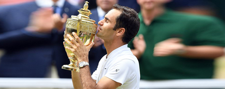 Roger Federer Made Sporting History As He Claimed An Unprecedented Eighth Men's Wimbledon Title
