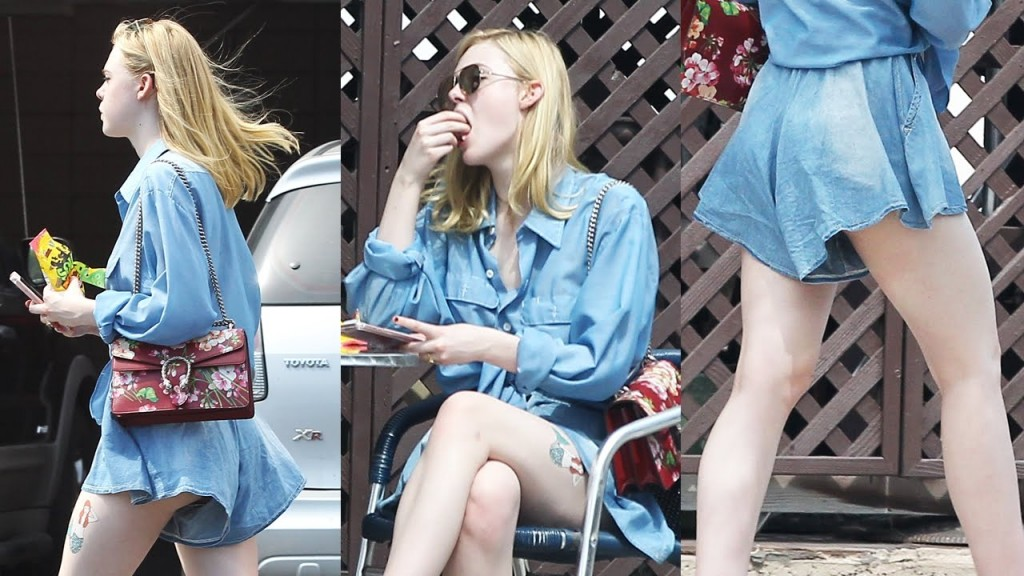Elle Fanning Shows Off Her Perfectly Skin As She Poses In A Photoshoot