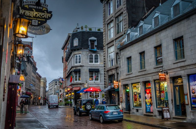 Old Montréal with its cobbled streets
