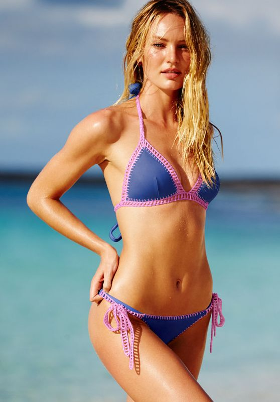 Victoria's Secret Model Candice Swanepoel Flaunts Her Bikini Body During Photo Shoot
