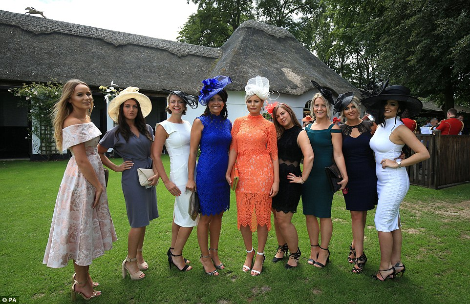 Glamorous Racegoers Wearing Some Revealing Outfits On Ladies Day