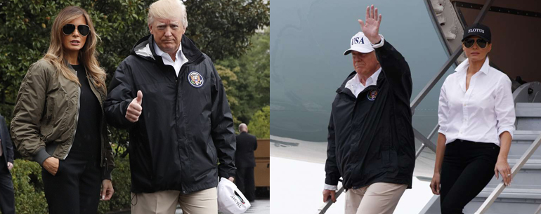 Donald Trump And Melania Trump visits Texas in wake of Hurricane Harvey