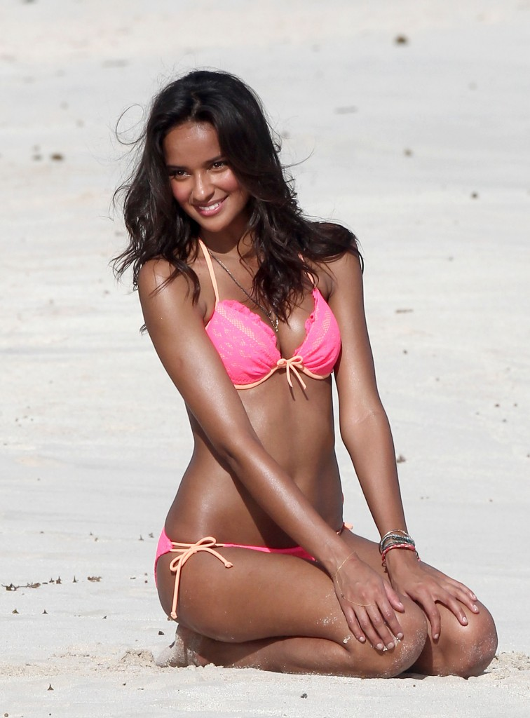 Victoria's Secret Model Gracie Carvalho Showes Off Her Bombshell Body In Colorful Bikinis