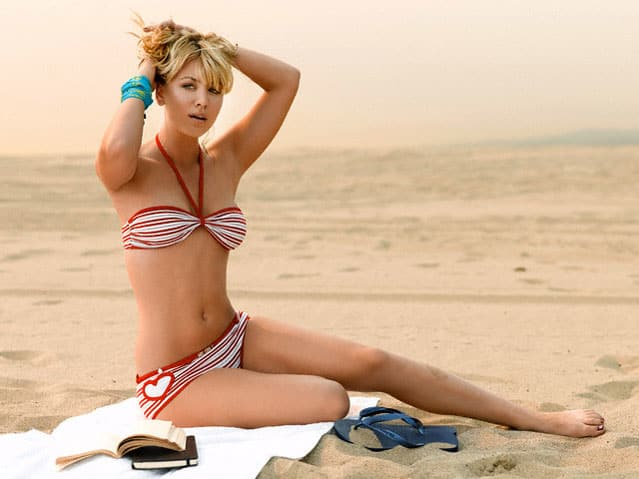 Hot And Sexy Photos Of Kaley Cuoco In A Bikini
