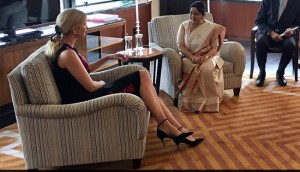 Ivanka Trump Meets Indian Foreign Minister Sushma Swaraj