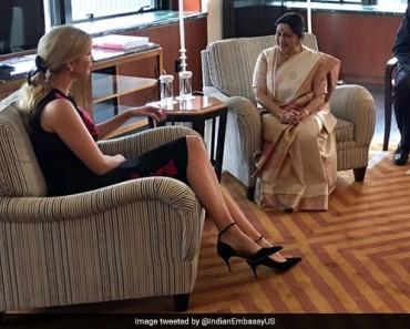 Ivanka Trump Meets Indian Foreign Minister Sushma Swaraj