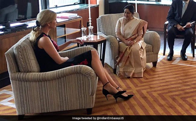 Ivanka Trump Meets Indian Foreign Minister Sushma Swaraj, Calls Her 'Charismatic' In Tweet
