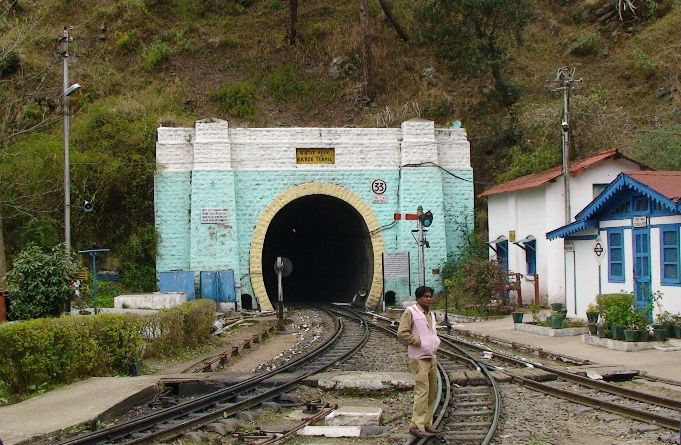 Tunnel No. 33 on Shimla-Kalka Railway Line