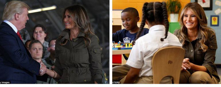 Melania Trump Smiles Happily As She Chats With Children, Draws, And Makes Paper Planes During Visit To Air Force Base Youth Center