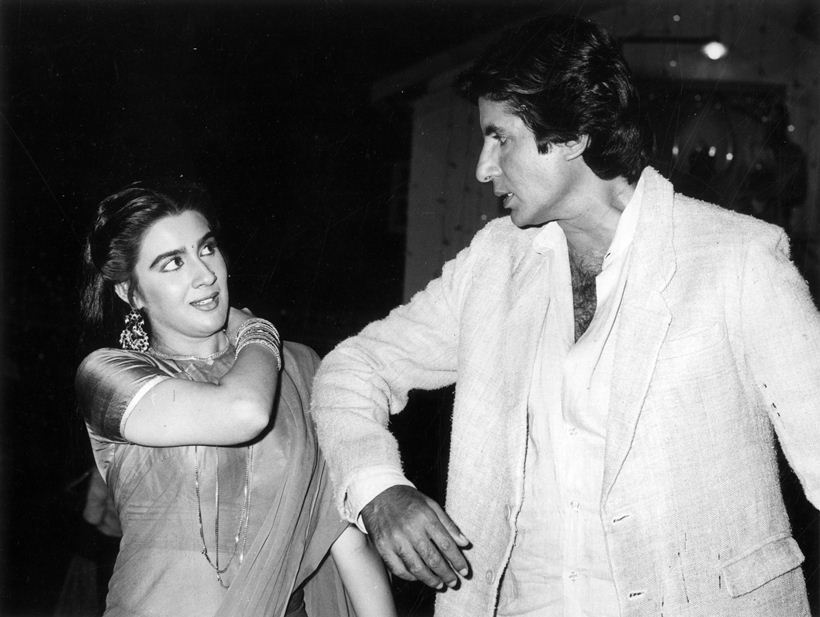 Actress Amrita Singh and Amitabh Bachchan. Express archive photo