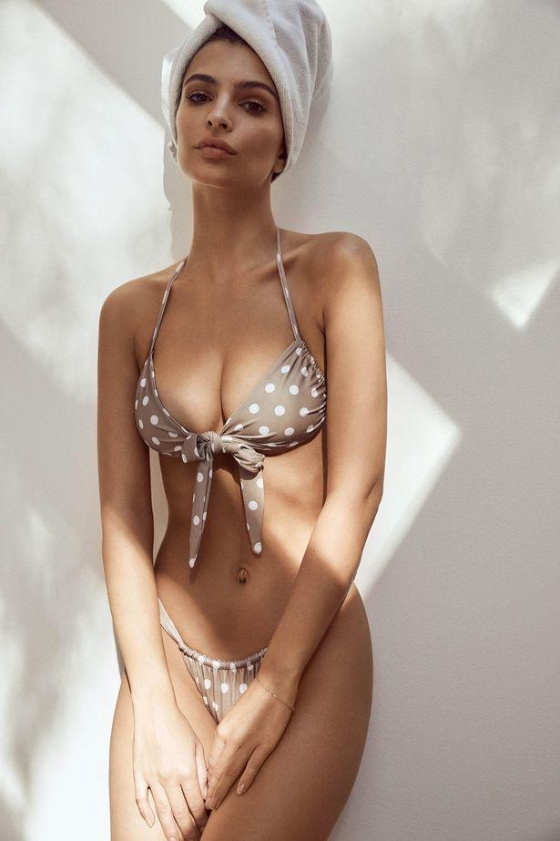 Her design showcased a cute tie-bikini top