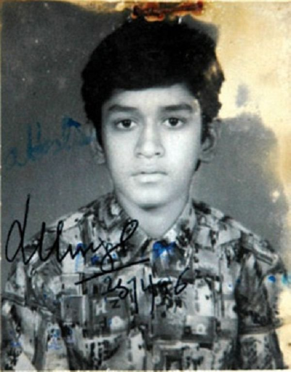 MS Dhoni as a young boy