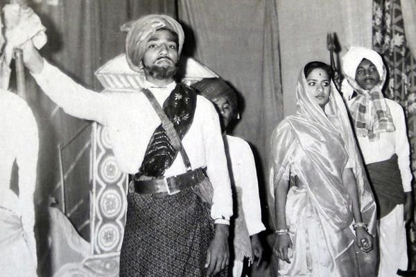 Narendra Modi in a school play