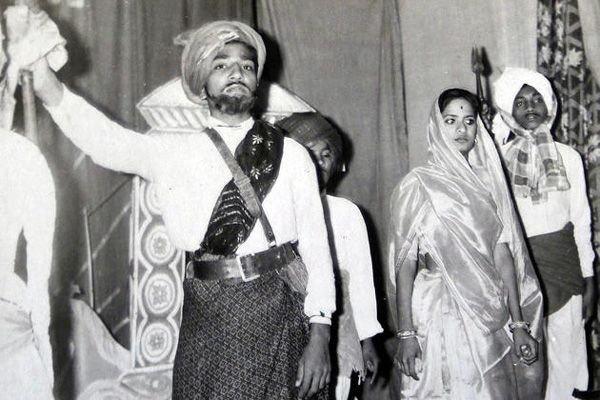 Narendra Modi in a school play