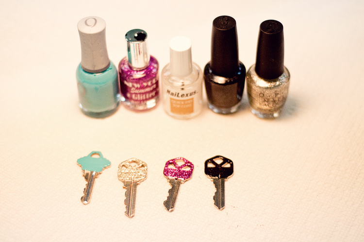 Use Nail Polish To Paint Your Keys