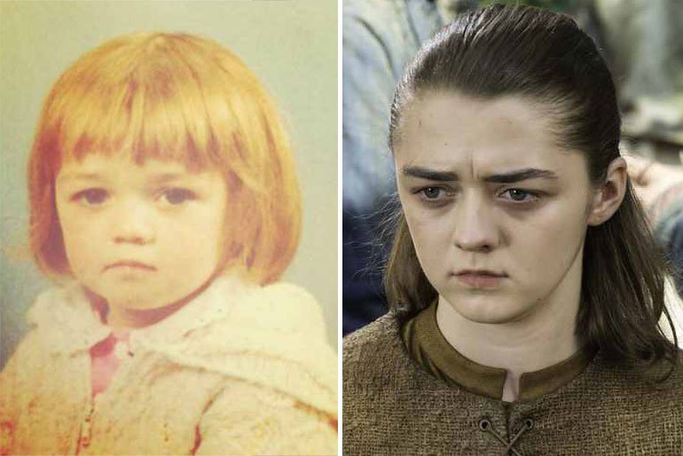 Maisie Williams-celebrities as kids