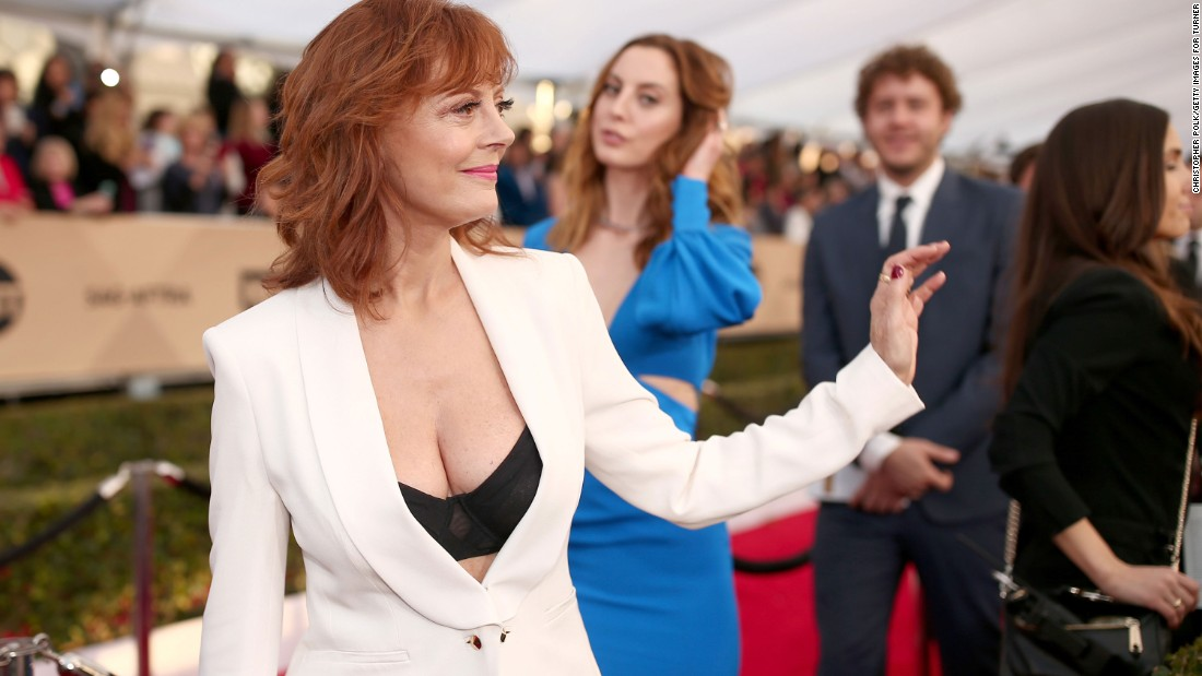 Susan Sarandon's cleavage