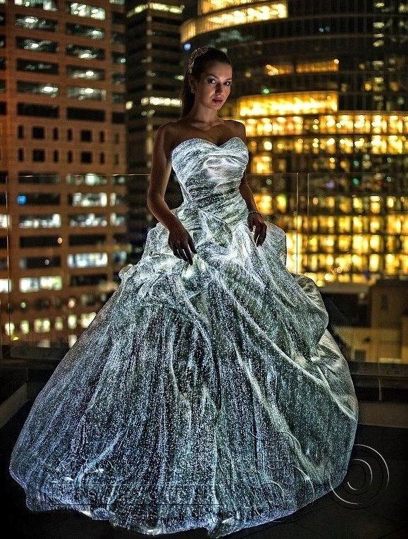 Fiber-optic dress