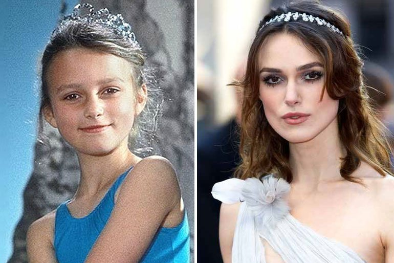 Kiera Knightley-actors childhood pics
