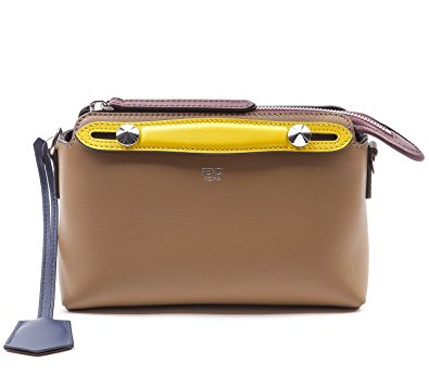 Wiberlux Fendi Women's Mini Color Blocked Zip-Top Real Leather Bag