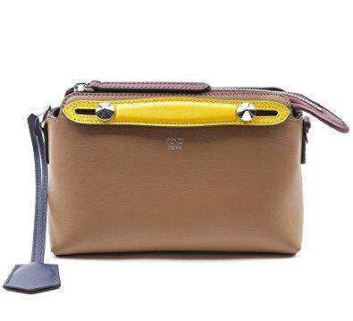Wiberlux Fendi Women's Mini Color Blocked Zip-Top Real Leather Bag