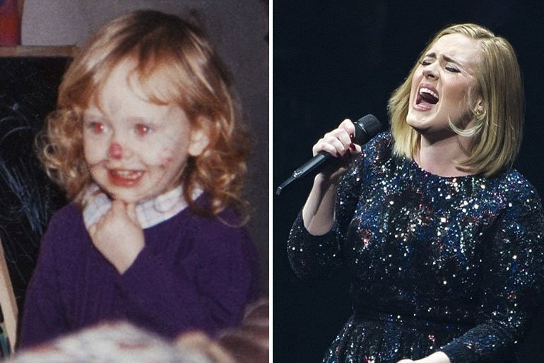 Adele-child photos of stars