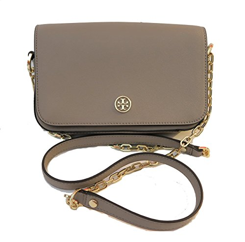 Tory Burch Robinson Chain Crossbody Bag French Gray
