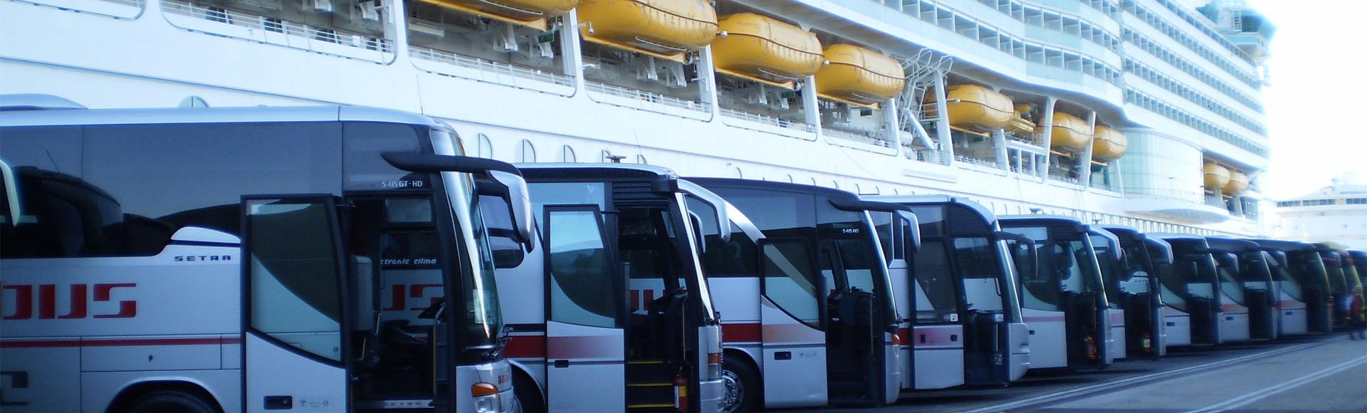 Civitavecchia port to Rome transfer By Bus