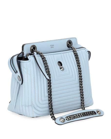 Fendi women's leather cross-body messenger shoulder bag dotcom click blue