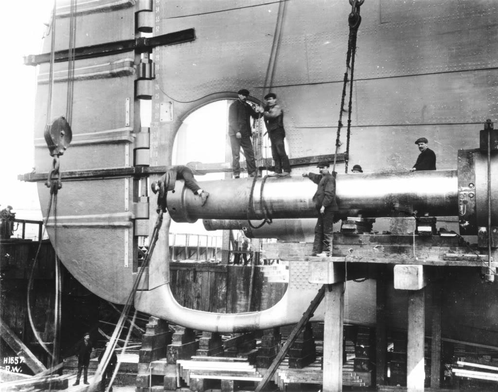 Titanic under construction