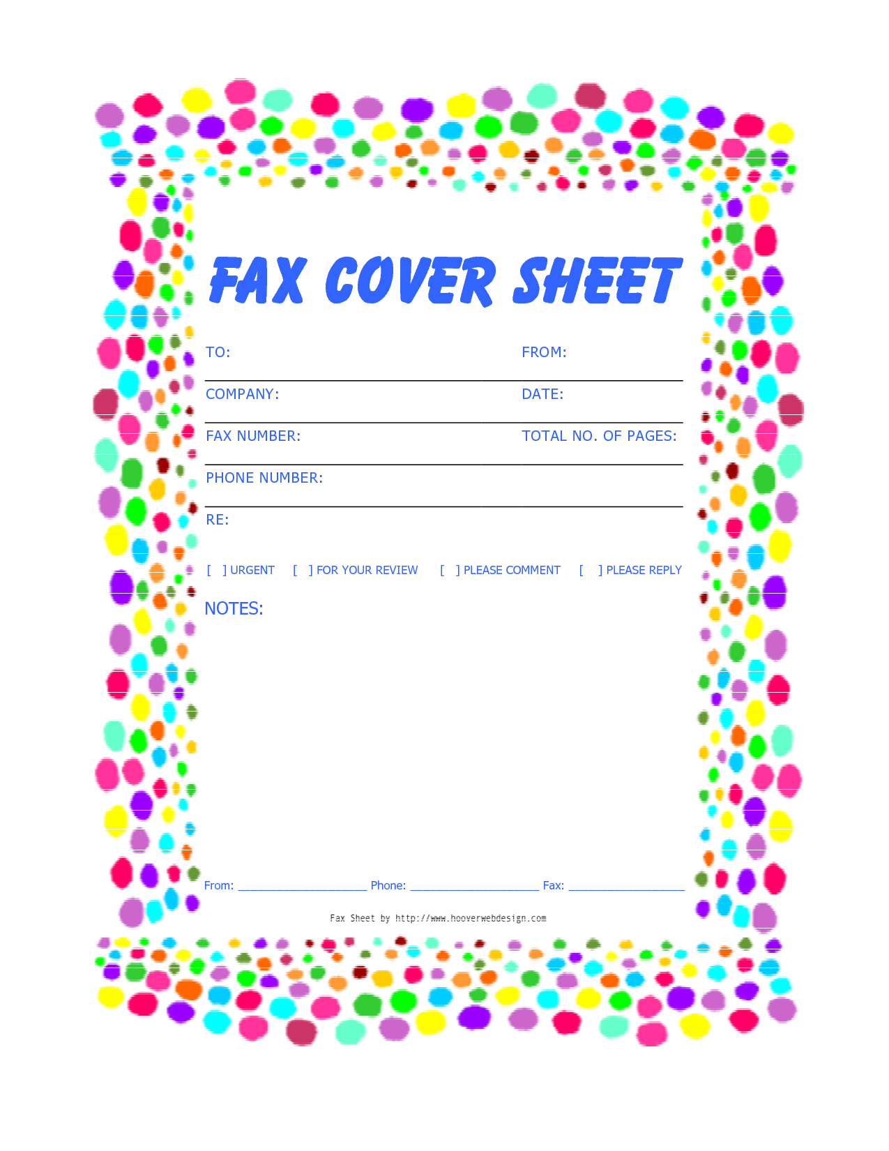 It is a picture of Striking Fax Cover Sheet Free Printable