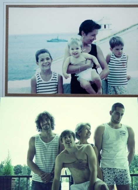 Amazing pictures recreated by father and son -V17