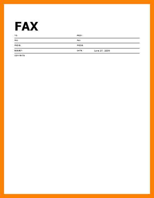 Crafty image with printable fax cover page