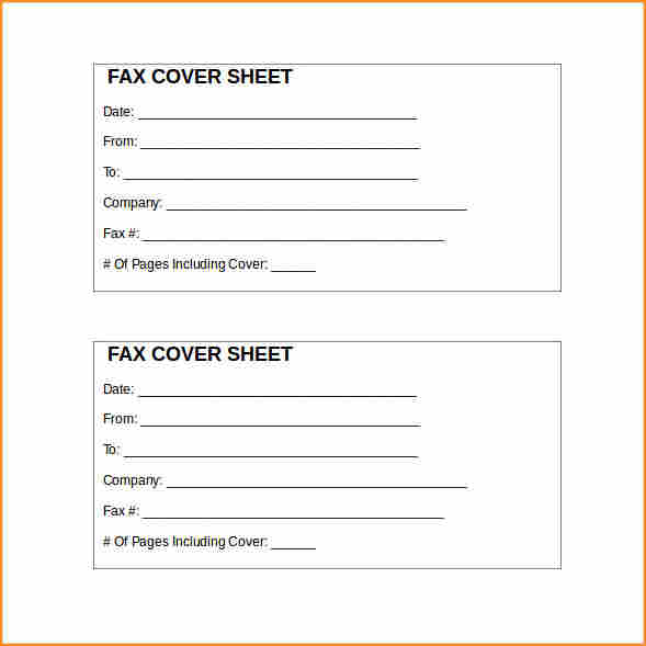 what to put on a fax cover sheet