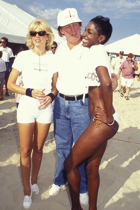 Marla Maples, Donald Trump, and model Roshumba Williams