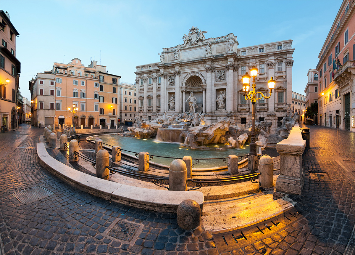 Piazza of Trevi Fountain