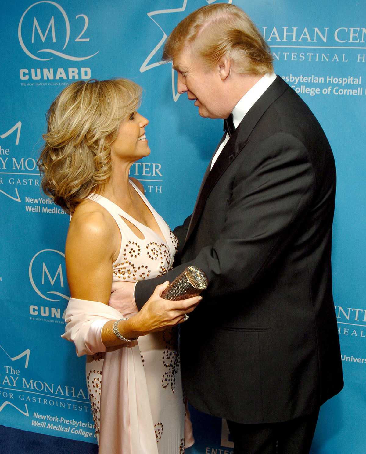 Katie Couric and Donald Trump