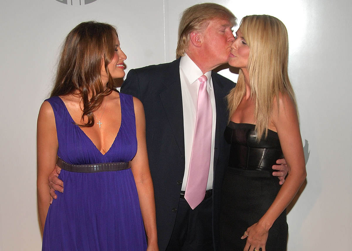 Melania Trump, Donald Trump, and Heidi Klum