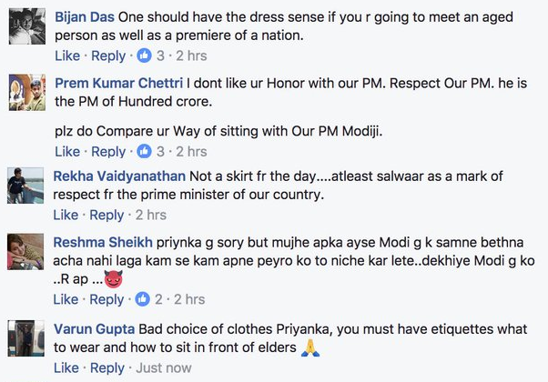 Priyanka Chopra Trolled For Wearing Dress To Meet PM Modi-V1