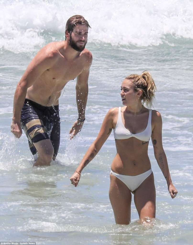 Miley Cyrus Spotted Rocking A Skimpy Teeny Bikini -Updated
