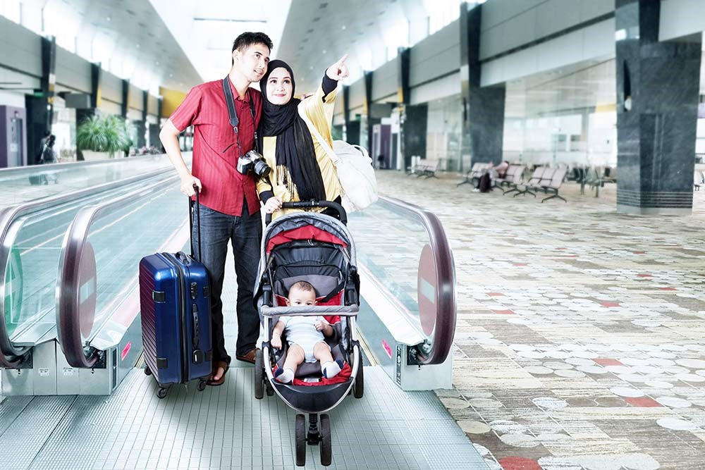 Traveling with strollers